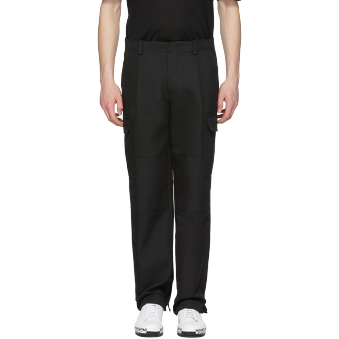 Image of Wooyoungmi Black Oversized Cargo Pants