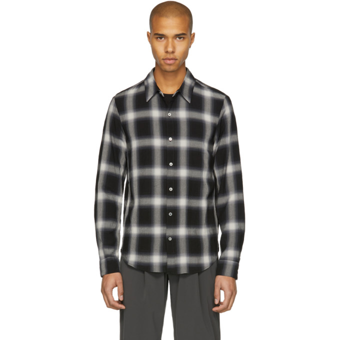 Image of Attachment Black Check Shirt