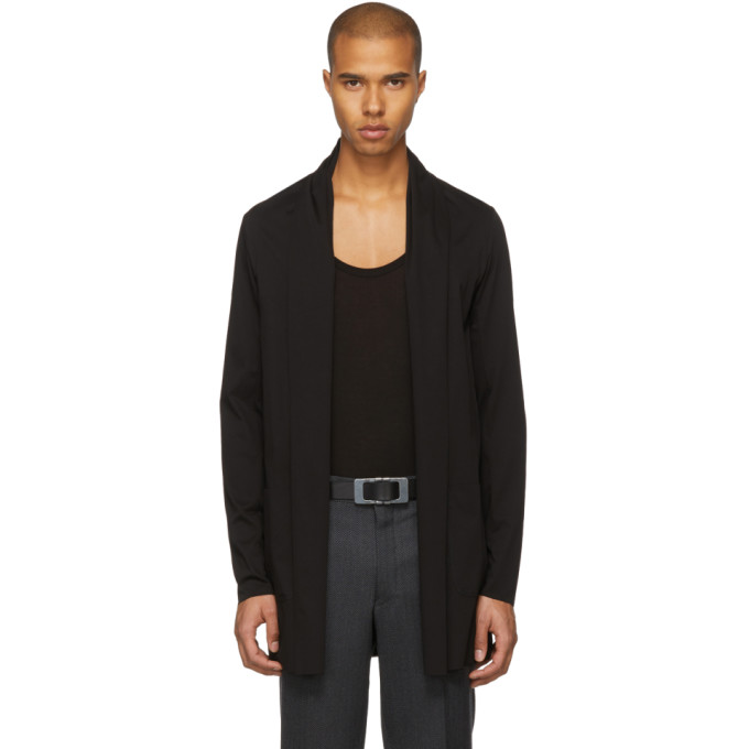 Image of Attachment Black Long Cardigan