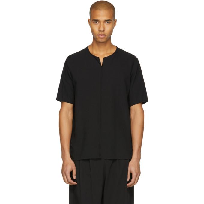 Image of Attachment Black Linen T-Shirt