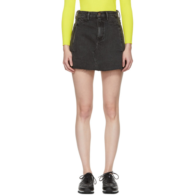 Image of Simon Miller Black Nashua Denim Miniskirt