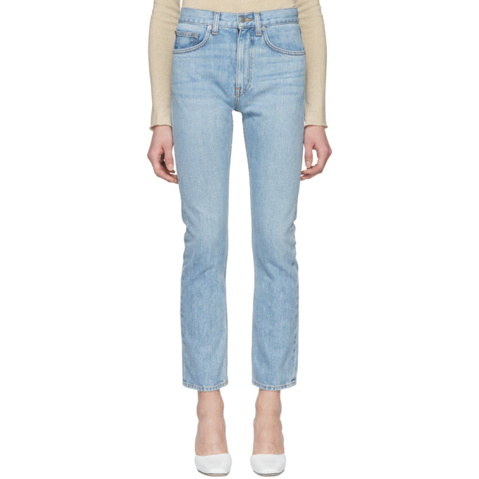 Image of Brock Collection Blue Wright Jeans