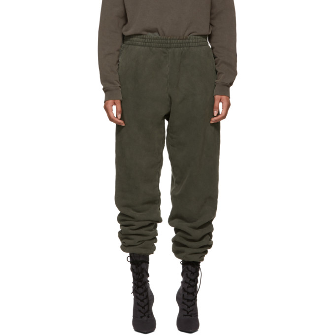 YEEZY GREEN SHRUNKEN SWEATPANTS