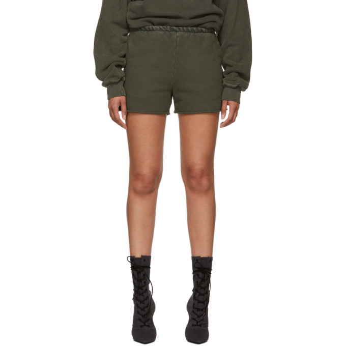 YEEZY GREEN SWEAT SHORTS