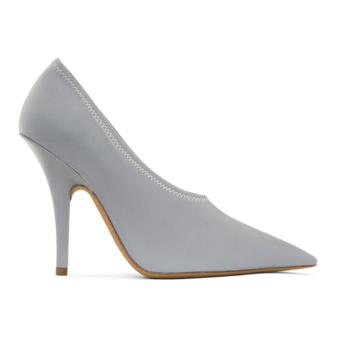 YEEZY Grey Reflective Heels