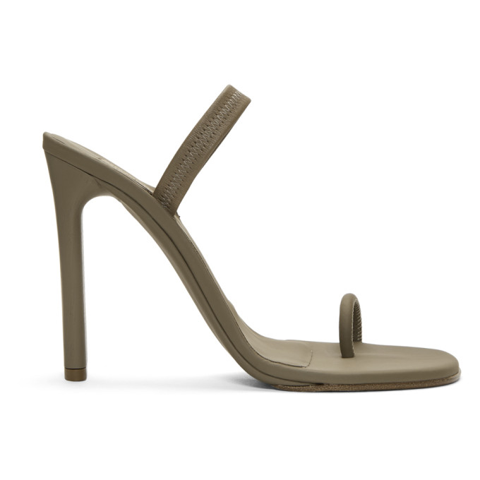 YEEZY Taupe Sling Back Sandals