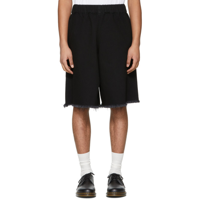 Marques Almeida SSENSE Exclusive Black Denim Tracksuit Shorts