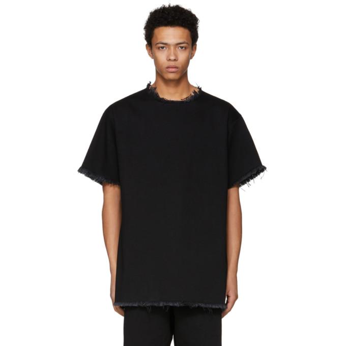 Marques Almeida SSENSE Exclusive Black Classic Oversized Denim T-Shirt