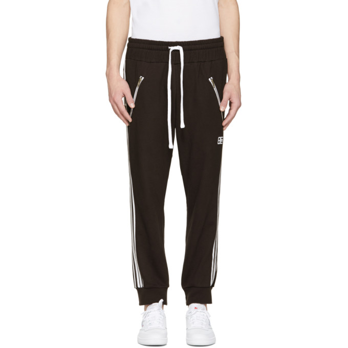 Image of Baja East Black Logo Moto Lounge Pants