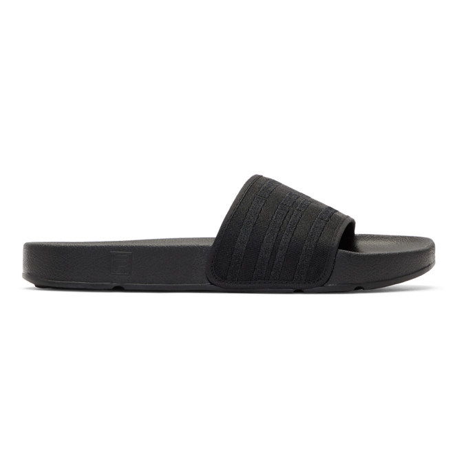 Image of Baja East Black Fila Edition Drifter Slides