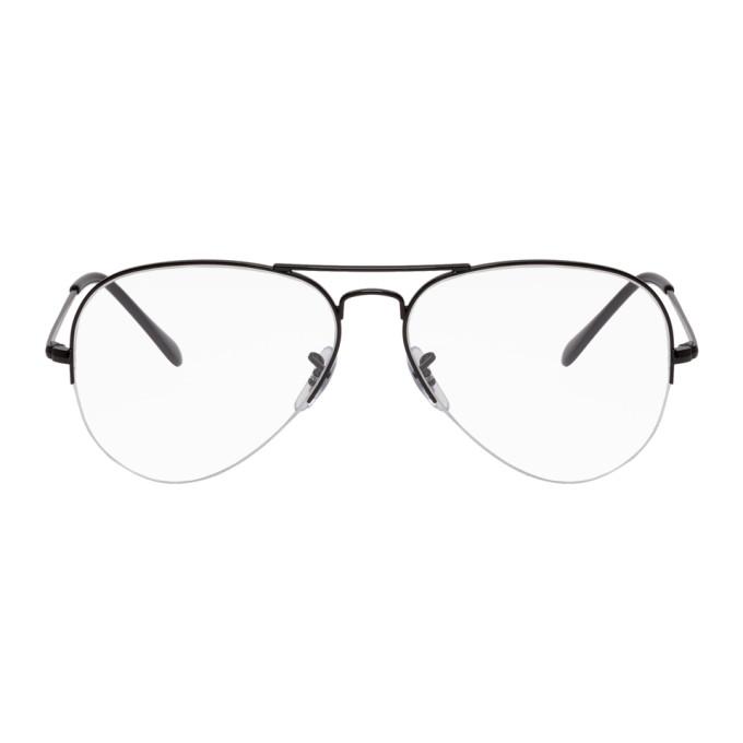 Image of Ray-Ban Black Gaze Aviator Glasses