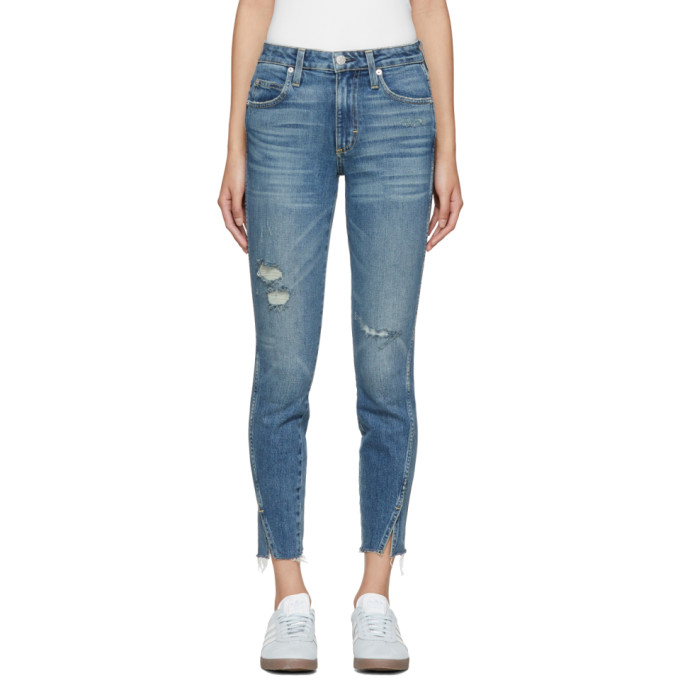 Amo Blue Twist High-Rise Jeans