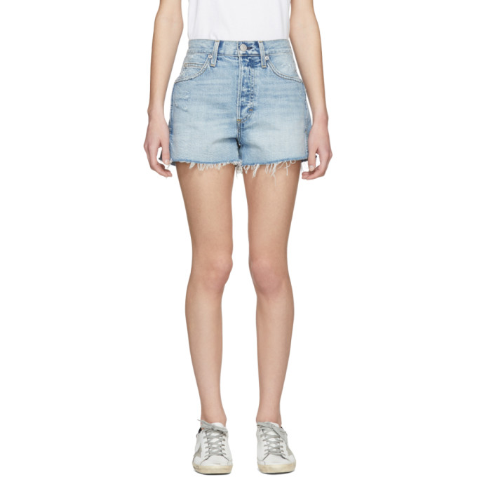 Amo Blue Rosebowl Denim Shorts
