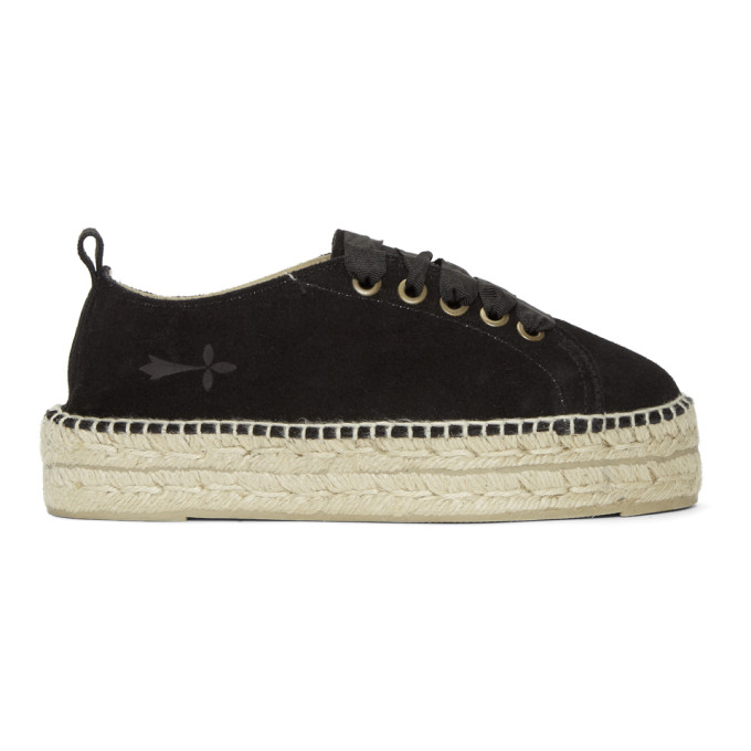 Image of Manebí Black Hamptons Double Sneaker Espadrilles