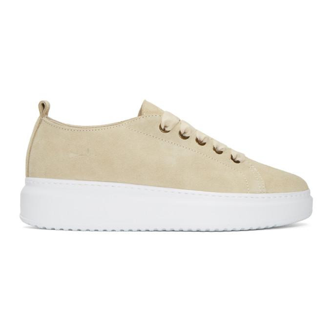 Image of Manebí Beige Suede Bold Sneakers
