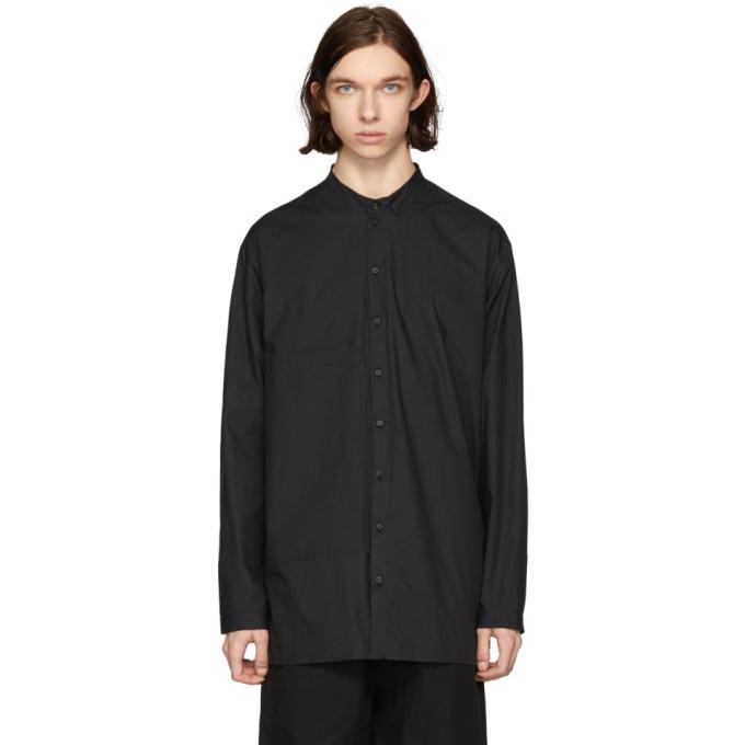 Image of Isabel Benenato Black Poplin Big Pocket Shirt