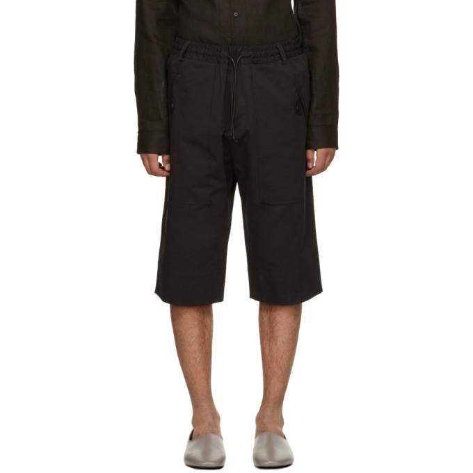Image of Isabel Benenato Black Elastic Waist Shorts