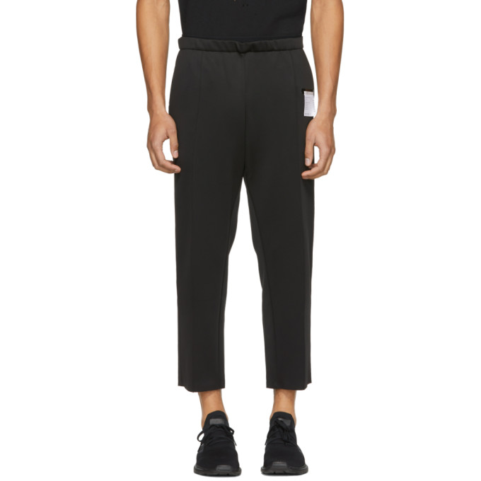 Image of Satisfy Black Spacer Post-Run Lounge Pants