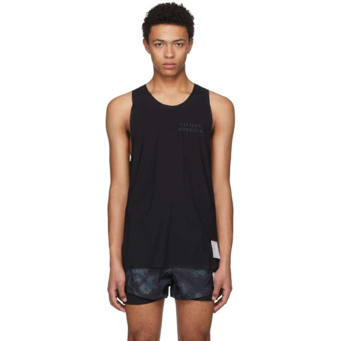 Image of Satisfy Black Justice Tank Top