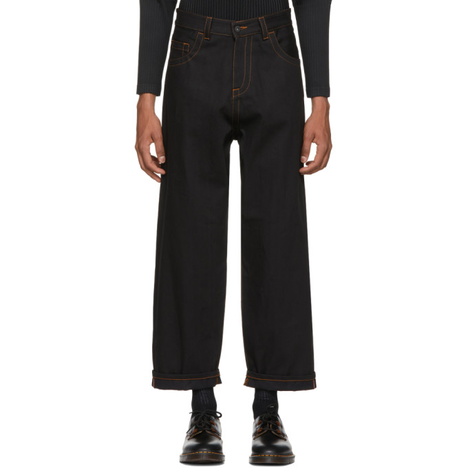 Image of Craig Green Black Loose Fit Jeans