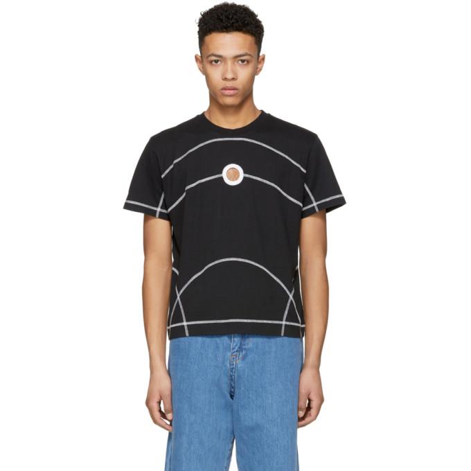 Image of Craig Green Black Flat Lock Jersey T-Shirt