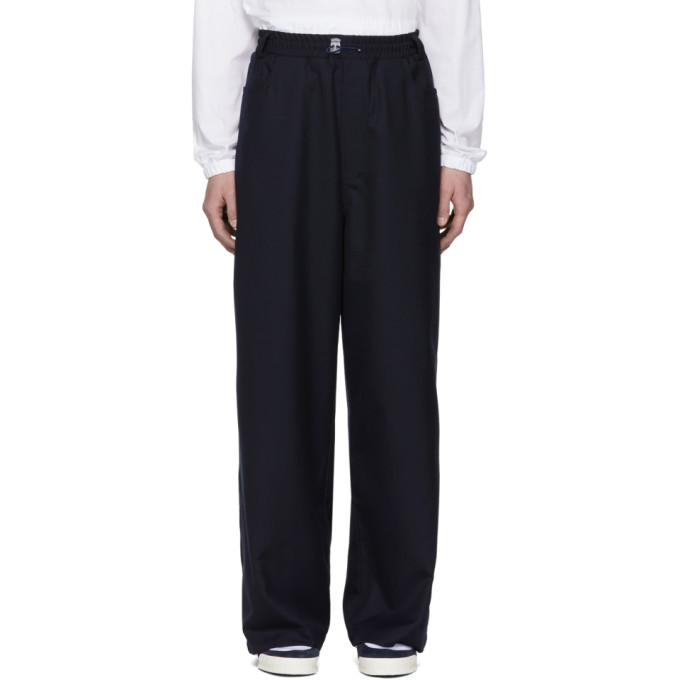 Image of Sunnei Blue Wide-Leg Trousers
