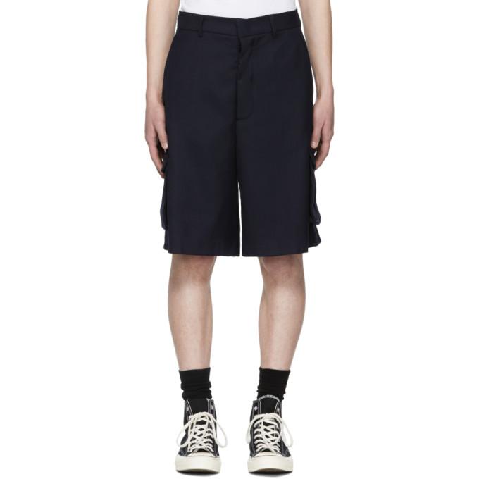 Image of Sunnei Blue Cargo Shorts