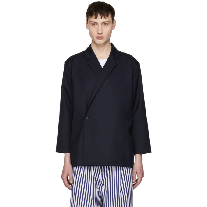 Image of Sunnei Blue Kimono Blazer