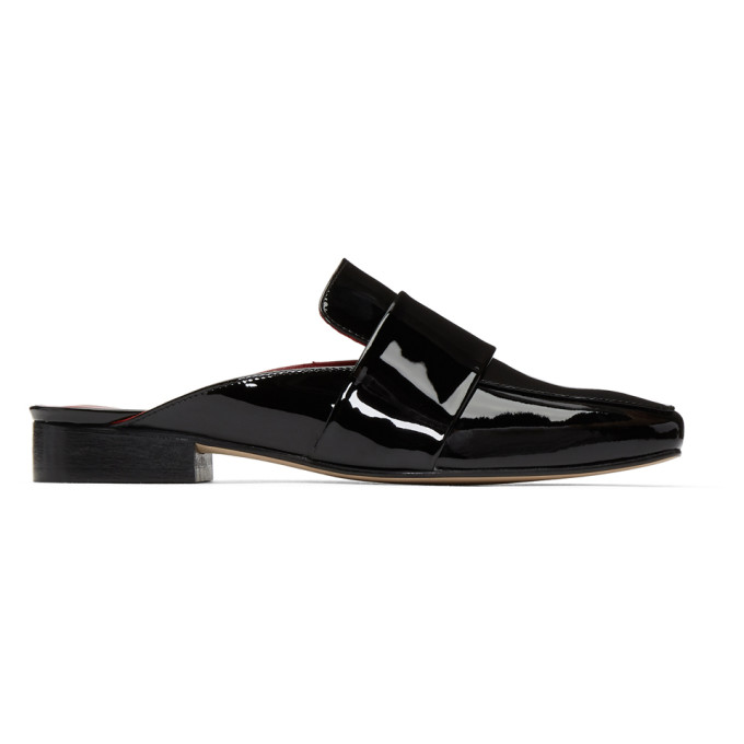 Image of Dorateymur Black Patent Filiskiye Slip-On Loafers