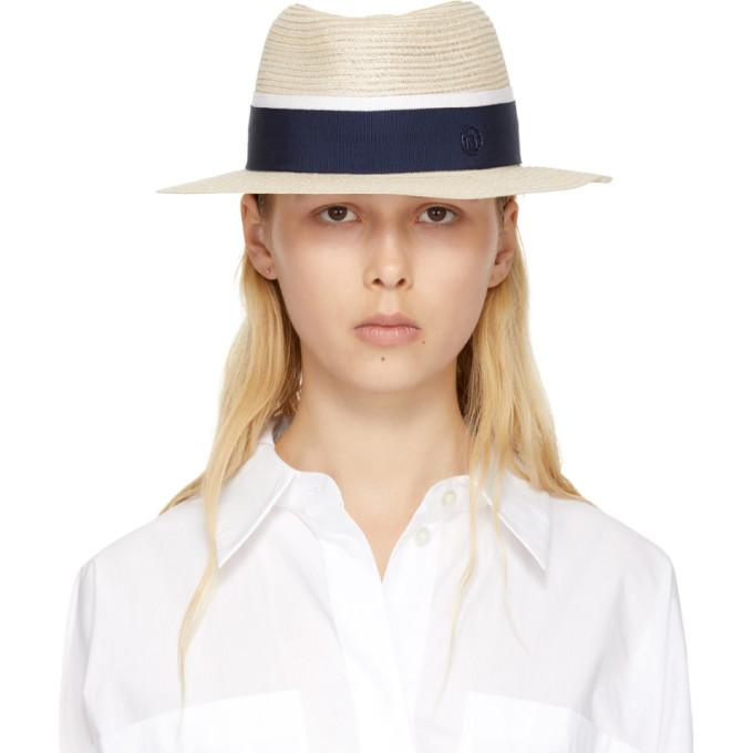 Image of Maison Michel Beige Andre Panama Hat