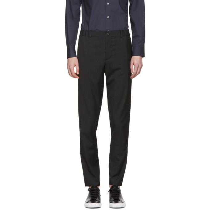 Image of Stephan Schneider Black Checkered Edge Trousers