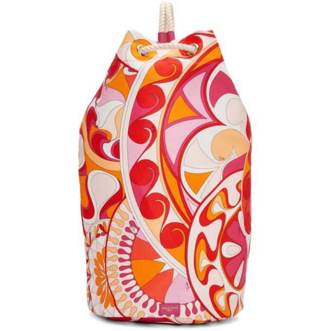 Emilio Pucci Pink Nigeria Printed Rope Duffle Bag