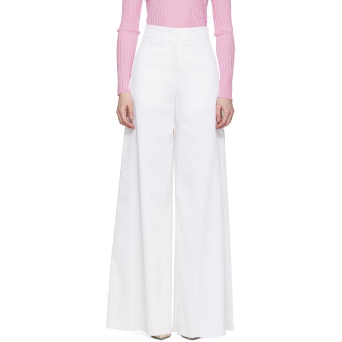 Emilio Pucci White High-Rise Trousers