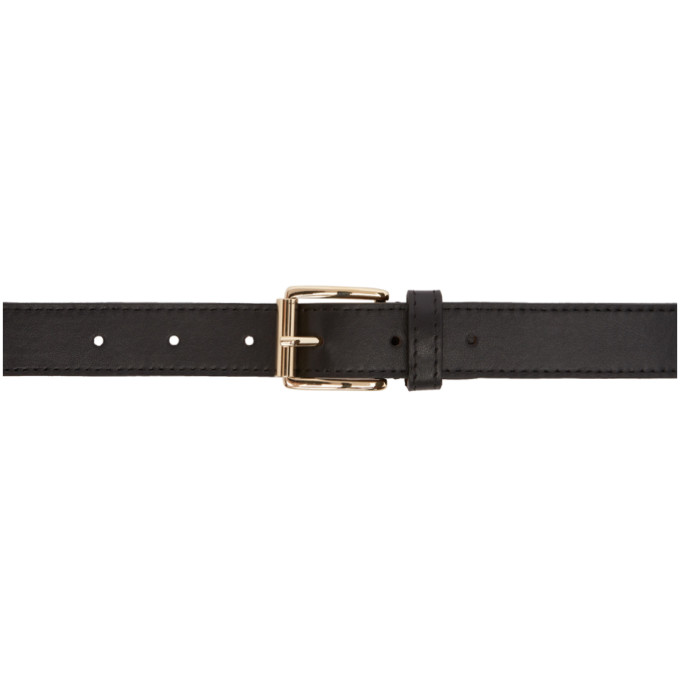 Image of Éditions M.R Black Leather Belt