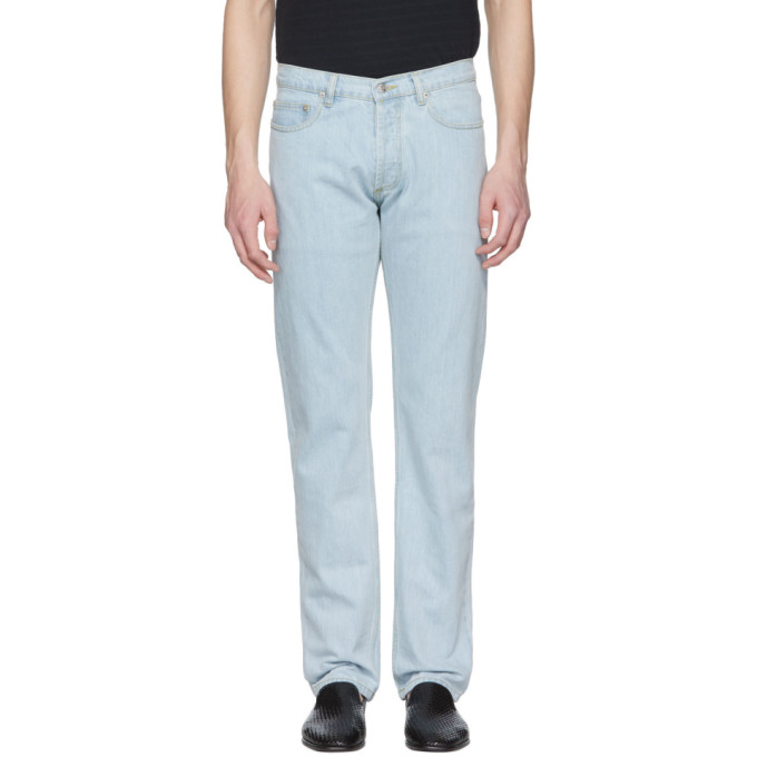 Image of Éditions M.R Blue Regular Fit Bleached Jeans