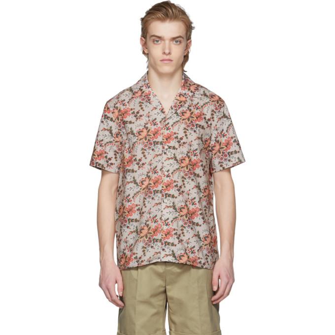 Image of Éditions M.R Beige & Orange Tahiti Shirt