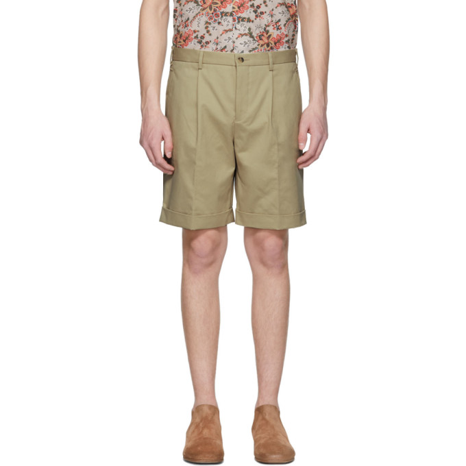 Image of Éditions M.R Beige Pleated Shorts