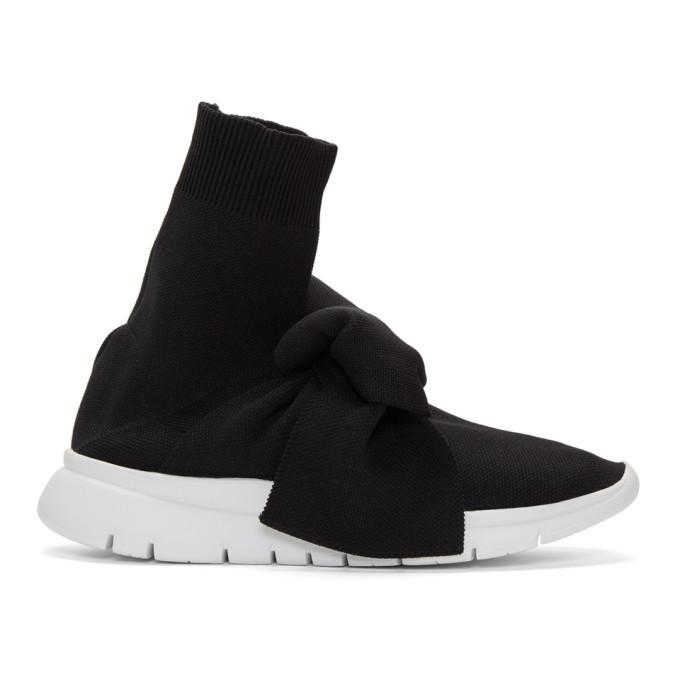 Image of Joshua Sanders Black Knot Sock High-Top Sneakers