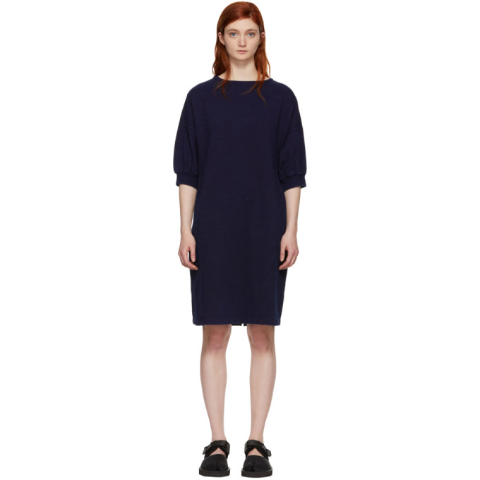 Blue Blue Japan Indigo Bump Inlay Pullover Dress