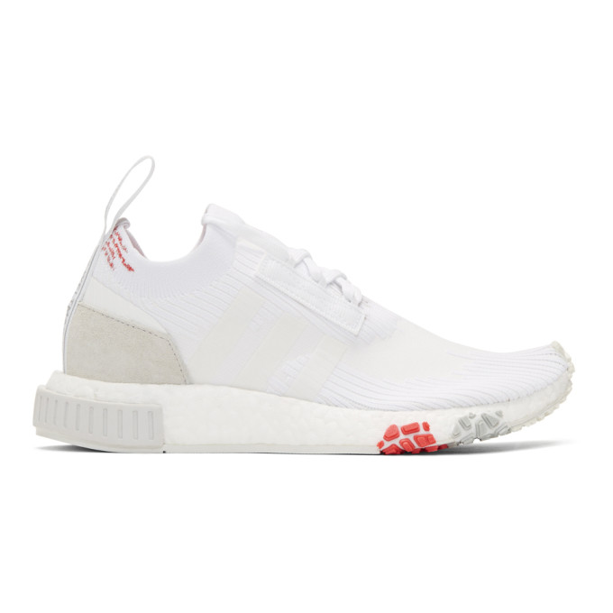 adidas Originals White & Red NMD Racer PK Sneakers