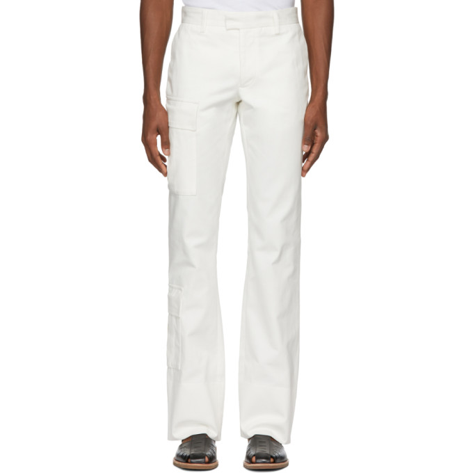 Image of Wales Bonner White Tailored Cargo Trousers