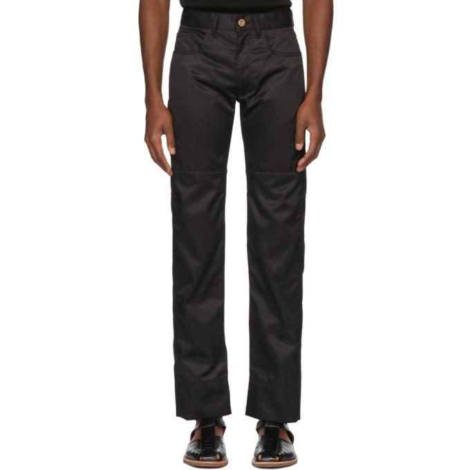 Image of Wales Bonner Black Panelled Jeans