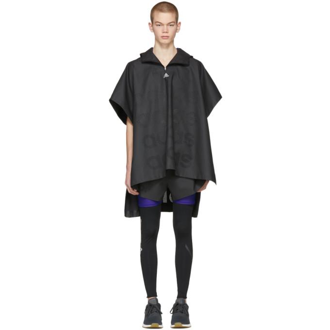 Image of Adidas x Kolor Black Coated Anorak Coat