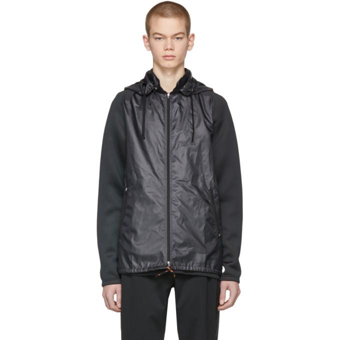 Image of Adidas x Kolor Black Fabric Mix Jacket