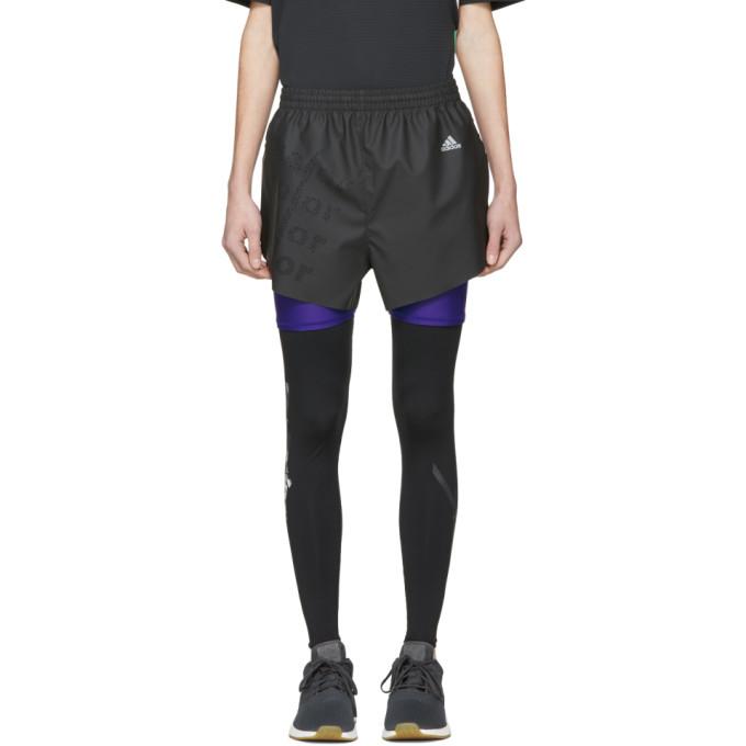 Image of Adidas x Kolor Black Coated Shorts