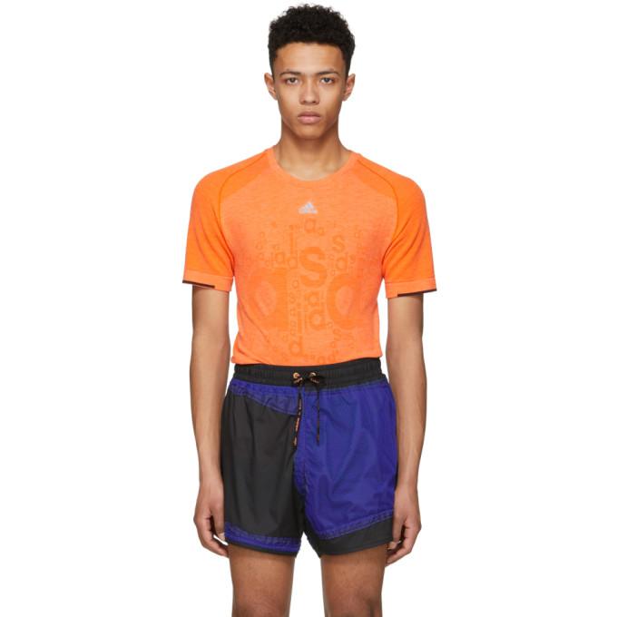 Image of Adidas x Kolor Orange Primeknit T-Shirt