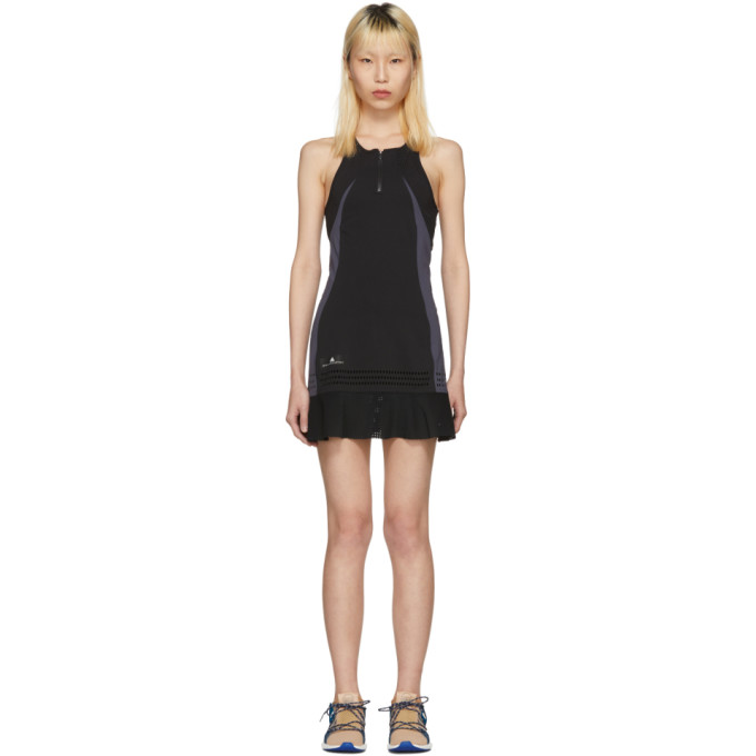 Image of adidas by Stella McCartney Black Barricade Tennis Dress