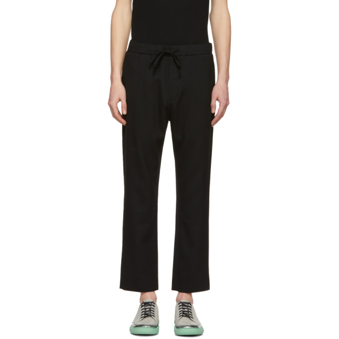 Image of CMMN SWDN Black Stan Drawstring Trousers