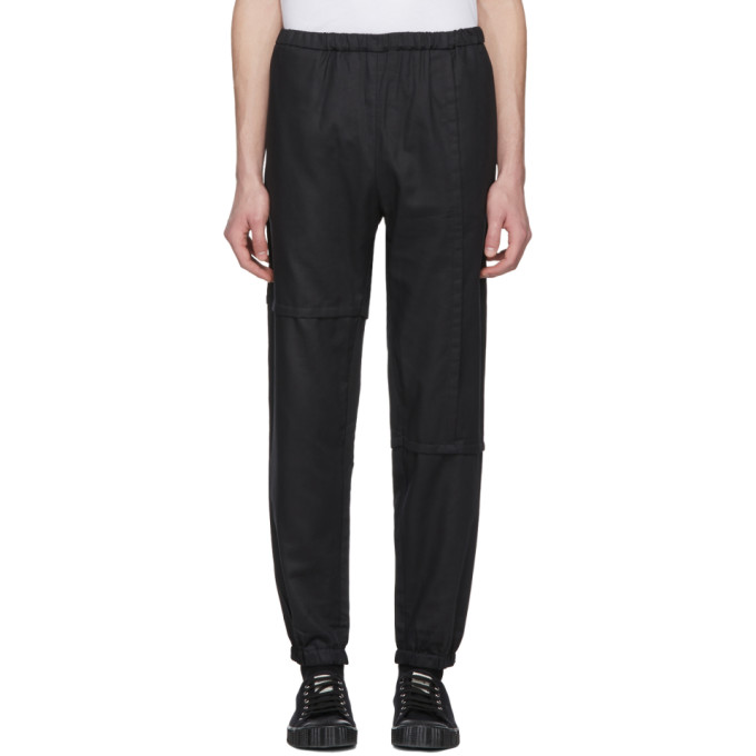 Image of Phoebe English Black Patched Jogger Pants