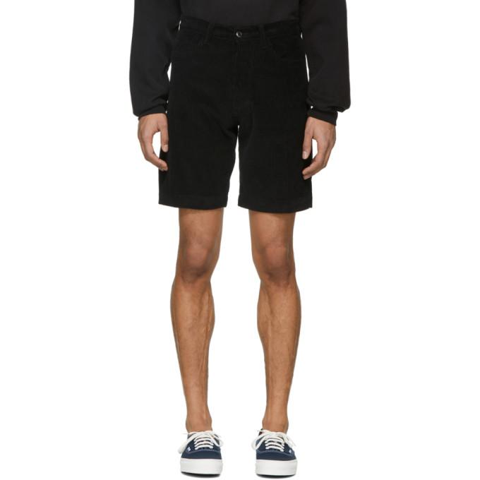 Image of Noon Goons Black Corduroy Club Shorts